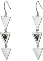 French Connection Triple Mini Triangle Stone Set Linear Earrings