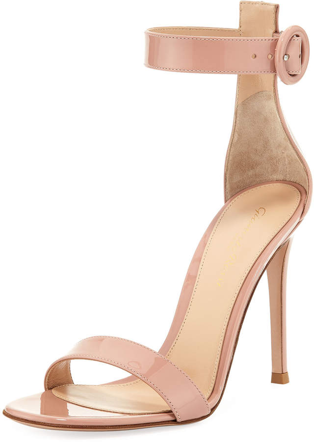 Gianvito Rossi Portofino Patent 105mm Ankle-Strap Sandal