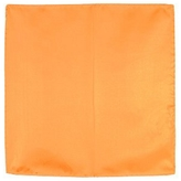 Forzieri Orange Silk Pocket Square