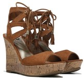 G by Guess Women's Estes Lace Up Wedge Sandal