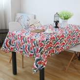 QI Tblecloths mericn Villge Home Festive Birds nd Linen,Pstorl Rectngulr Tblecloth,Coffee Tble Cover