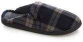 Maine New England Grey Check Pattern Slippers