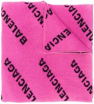 Balenciaga Repeat Logo Pattern Scarf