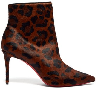 Christian Louboutin So Kate 85 Leopard-print Calf-hair Leather Boots - Leopard