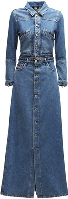 Diesel De-Blochy Convertible Denim Maxi Dress