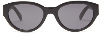 Givenchy Oval Acetate Sunglasses - Womens - Black