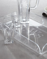 Horchow Monogrammed Acrylic Double Old-Fashioned