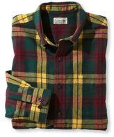 L.L. Bean Scotch Plaid Flannel Shirt, Slightly Fitted