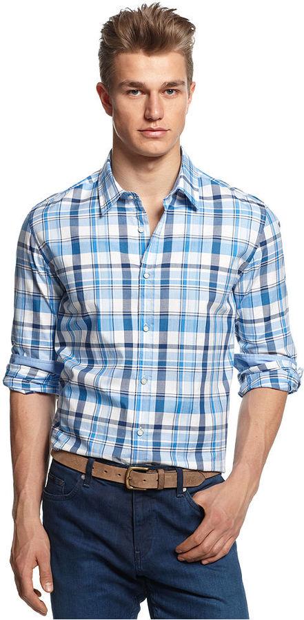 HUGO BOSS Lucas Large-Plaid Shirt
