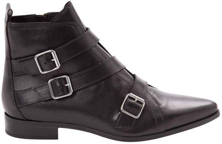 Diesel Leather buckled boots