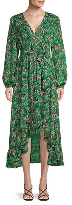 Vero Moda Floral Surplice Dress