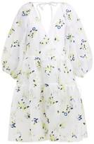 Cecilie Bahnsen - Manila Floral-embroidered Silk-organza Dress - Womens - White Multi