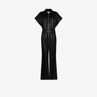 Stand Studio Waverly faux leather jumpsuit