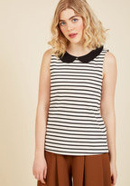 ModCloth Everyday Fave Tank Top in Ivory in 3X