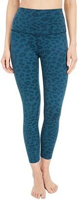 Beyond Yoga Leopard High Waisted Midi Legging (Hunter Green) Women's Casual Pants