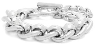 Bottega Veneta Curb And Rolo-chain Sterling-silver Bracelet - Womens - Silver