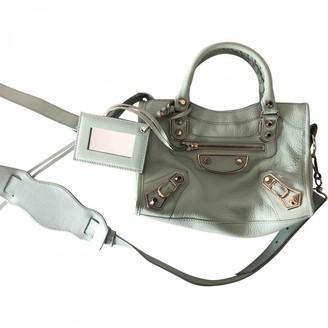 Balenciaga Green Leather Handbags
