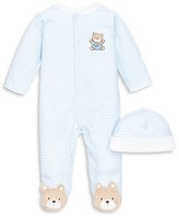 Little Me Infant Boys' Chevron Bear Footie - Sizes Newborn-9 Months