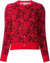 Comme des Garcons roses pattern cardigan