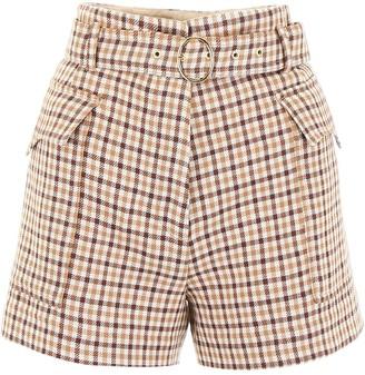 Nanushka Lucas Check Pattern Shorts