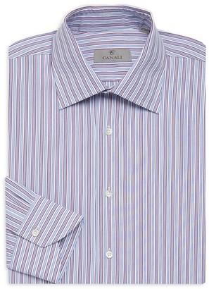 Canali Bold Strip Dress Shirt