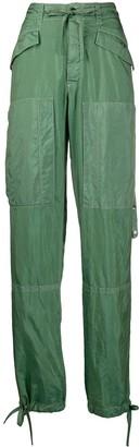 Jil Sander Tie Details Loose-Fit Trousers