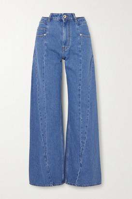 Maison Margiela Paneled High-rise Wide-leg Jeans - Blue