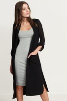 Dynamite Maxi Blazer With Sheer Sleeves