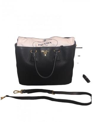 Prada saffiano Black Leather Handbags