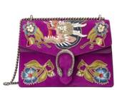 Gucci Dionysus Suede Shoulder Bag - Purple