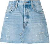 Levi's ripped denim skirt