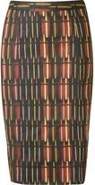 Andrea Marques - printed midi pencil skirt - women - Cotton/Spandex/Elastane/Acetate - 36