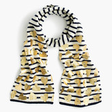 J.Crew Girls' striped metallic heart scarf