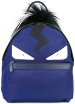 Fendi Bag Bugs backpack - men - Fox Fur/Leather/Nylon - One Size