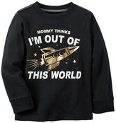 Carter's Long-Sleeve Foil Print Out Of This World Tee