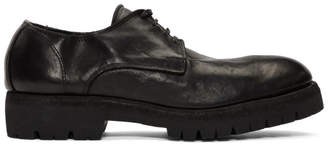 Guidi Black Leather Classic Derbys