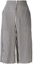 Closed striped shorts - women - Silk - XS