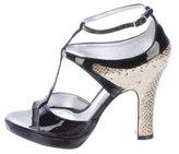 Dolce & Gabbana T-Strap Python Pumps w/ Tags