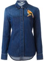 Stella McCartney embroidered bird denim shirt - women - Cotton/Spandex/Elastane/Polyester - 42