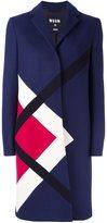 MSGM argyle check coat