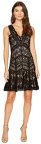 Nicole Miller Lace Combos Fit and Flare Women's Dress
