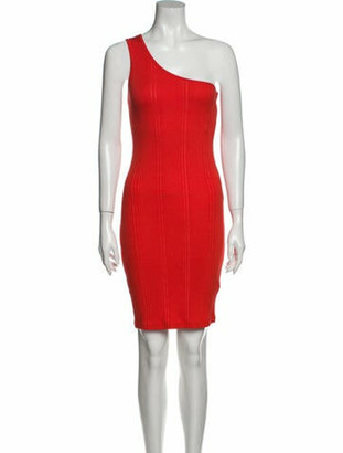 Frame One-Shoulder Mini Dress w/ Tags Red One-Shoulder Mini Dress w/ Tags