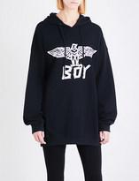 Boy London Eagle tape-print cotton-jersey hoody