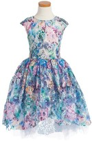 Halabaloo Toddler Girl's Sunset Princess Floral Lace Dress