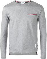 Thom Browne longsleeve pocket T-shirt - men - Cotton - 0