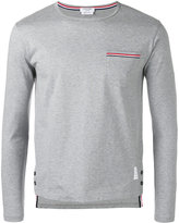 Thom Browne longsleeve pocket T-shirt - men - Cotton - 5