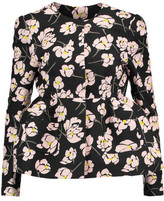 Rochas Floral-Print Cotton-Poplin Jacket