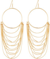 Lydell NYC Golden Circle & Layered Chain Drop Earrings