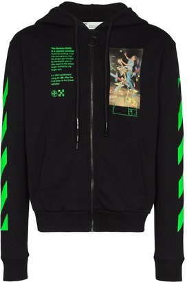 Off-White Graphic Print Zipped Hoodie