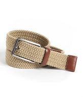Perry Ellis Woven Leather-Trim Belt